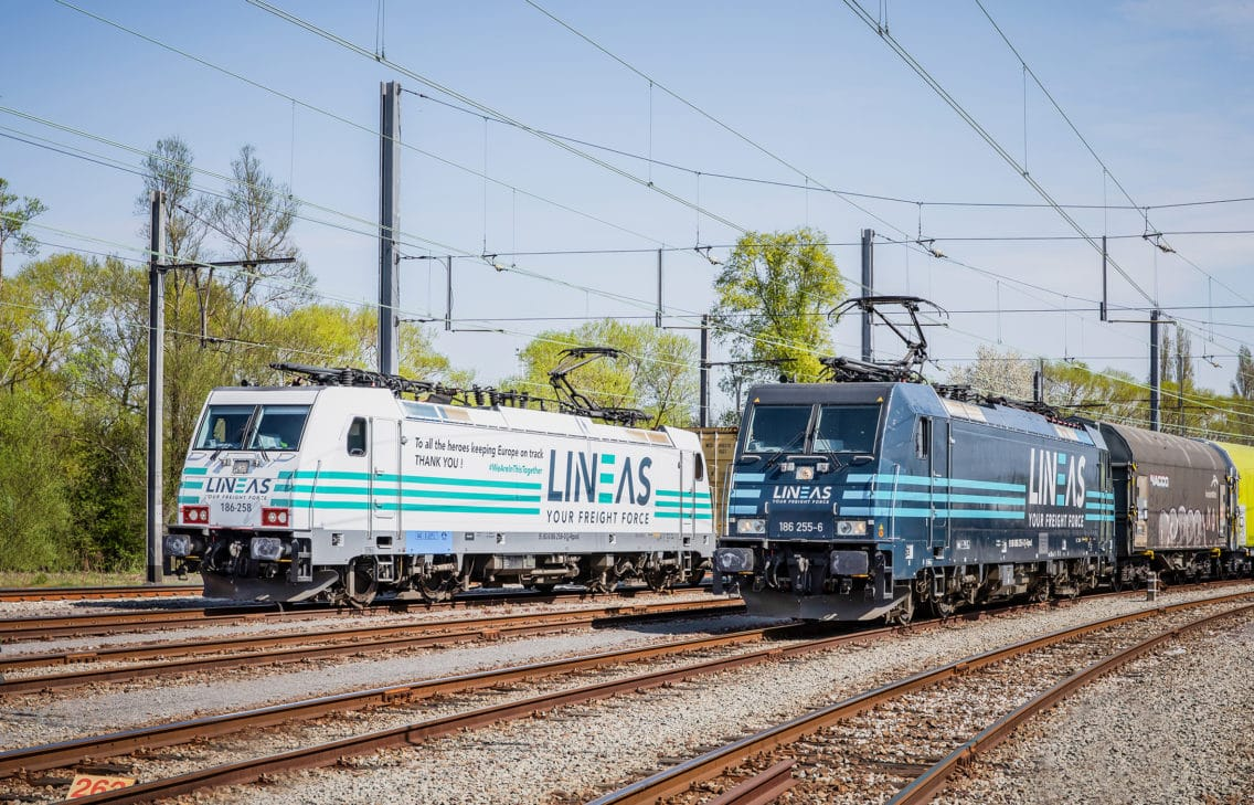 Two LINEAS trains