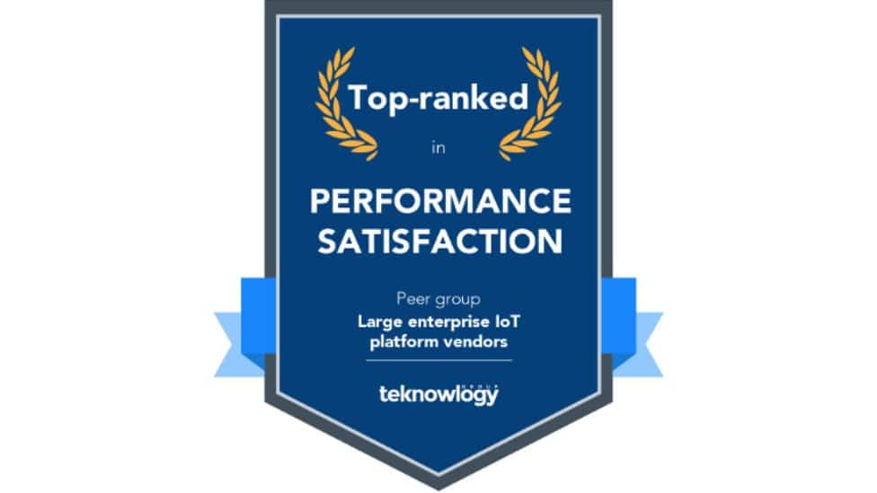 Award top-ranked in performance satisfaction from teknowlogy