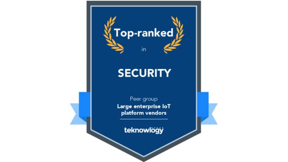 Award top-ranked in security from teknowlogy
